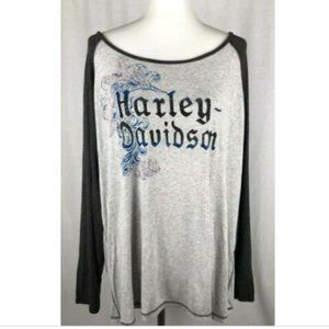 Harley Davidson Plus Size 3W Long Sleeve Top